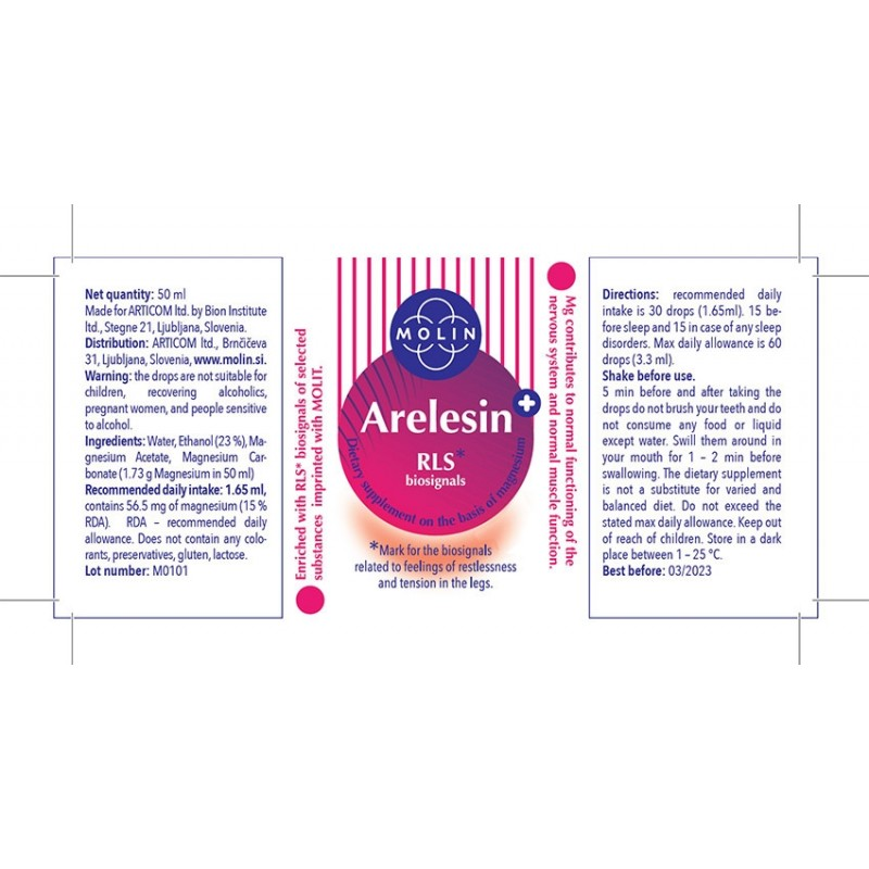 3x Arelesin+ 50ml For Restless Legs Syndrome Sticker