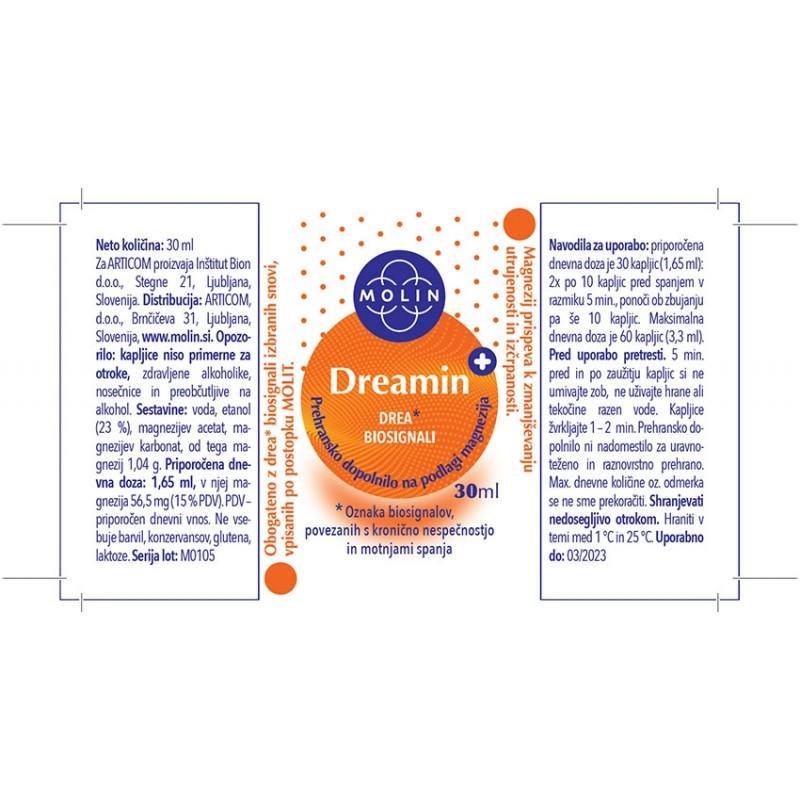 2x Dreamin+ 30ml nalepka