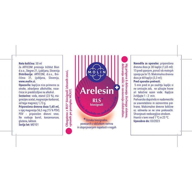 Arelesin+ 50ml Za Občutek Nemirnih Nog Nalepka