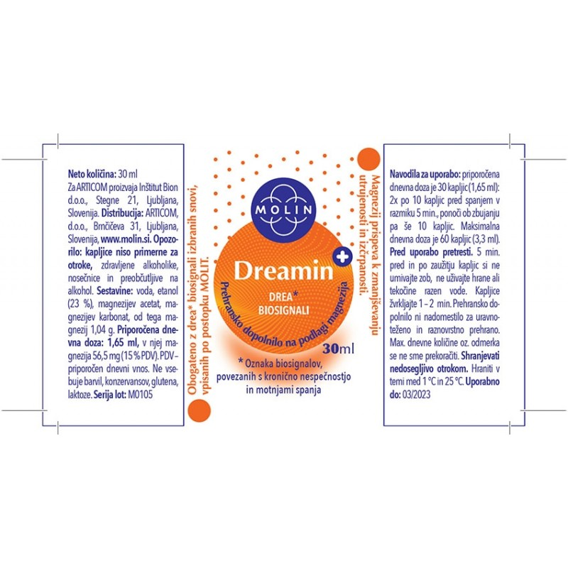 Dreamin+ 30ml nalepka
